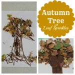 Autumn Tree with Leaf Sprinkles 150x150 Handprint Reindeer Puppets and Treat Bags