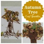 Autumn Tree with Leaf Sprinkles