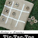 Burlap Branches Tic Tac Toe Game in a Bag 150x150 DIY Car Mat Backpack