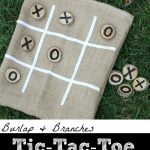Burlap Branches Tic Tac Toe Game in a Bag 150x150 DIY Birthday Shirt