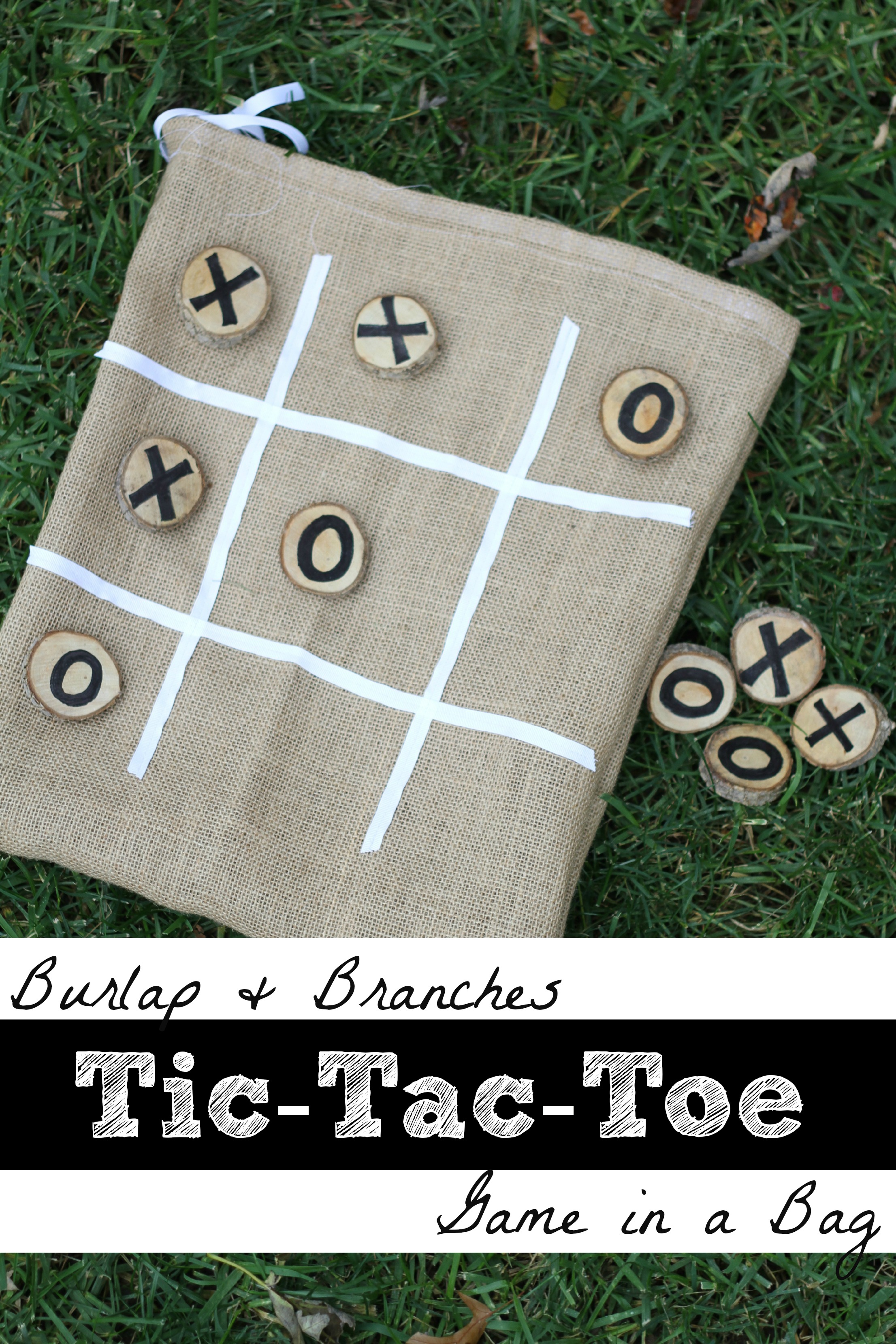 Burlap and Branches Tic-Tac-Toe Game in a Bag - I Can Teach My Child!
