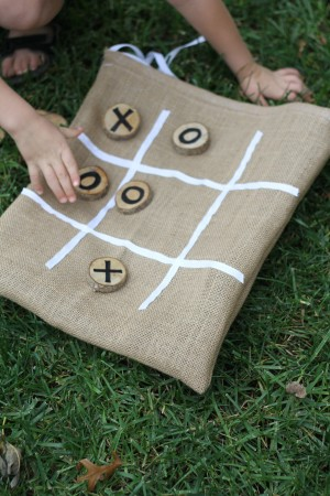 IMG 5905 300x450 Burlap and Branches Tic Tac Toe Game in a Bag