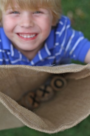 IMG 5925 300x450 Burlap and Branches Tic Tac Toe Game in a Bag