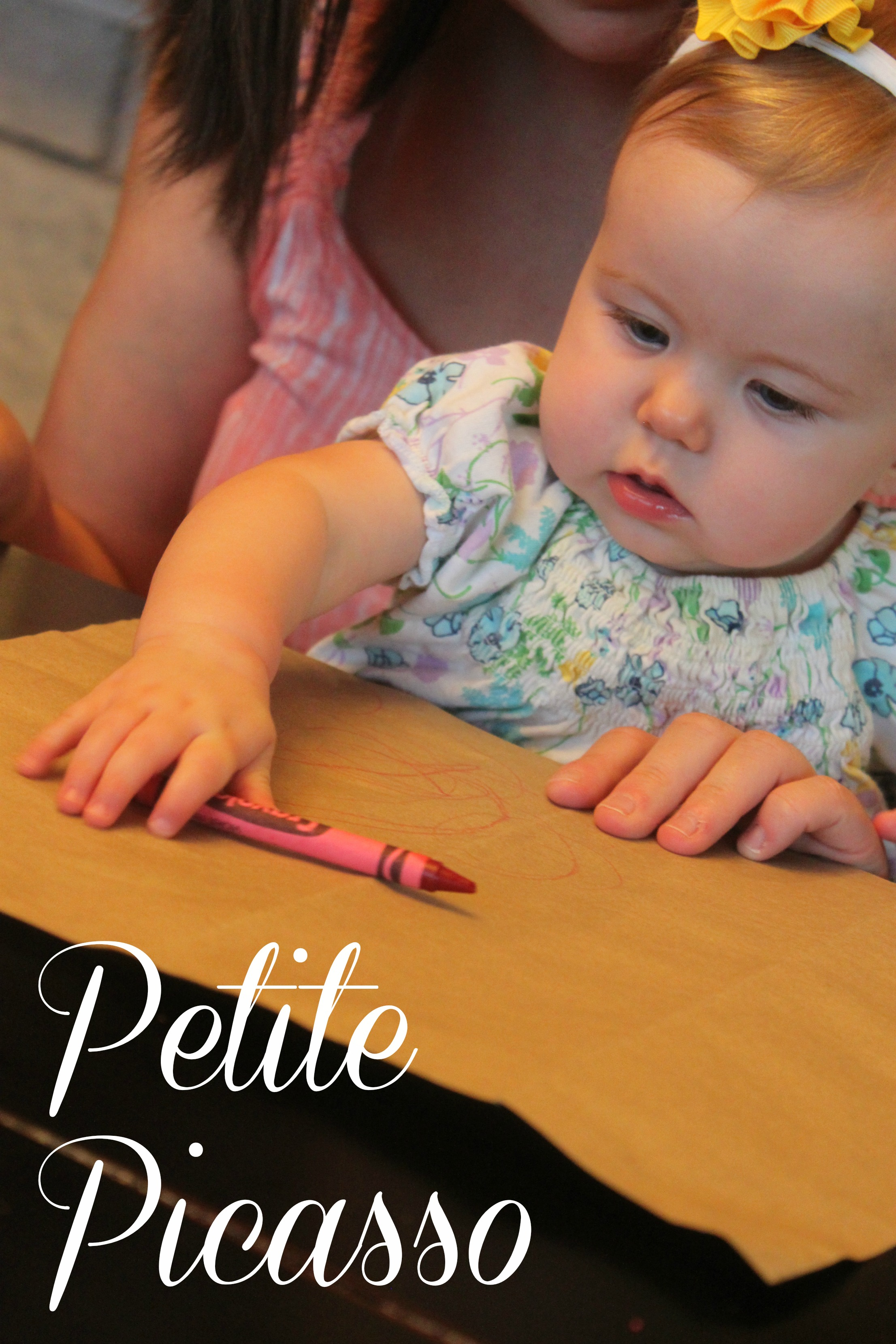 Petite Picasso Scribbling With Baby