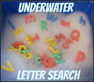 Underwater Letter Search Show and Share Saturday Link Up!