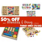 50% Off Select Melissa & Doug Toys (TODAY ONLY:  11/20)