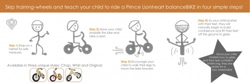 Balance Bike 500x166 Prince Lionheart Balance Bike:  Review & Giveaway