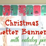 Christmas Letter Banner with Catalog Pictures
