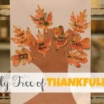 Family Tree of Thankfulness with Marbled Leaves 150x150 Heart Wreath (from toilet paper rolls)