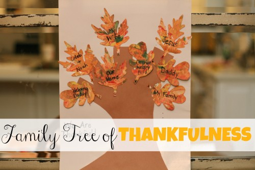 Family Tree of Thankfulness with Marbled Leaves 500x333 Family Tree of Thankfulness