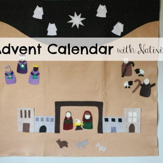 Felt Advent Calendar with Nativity Scene:  Product Review & Giveaway (2 winners)