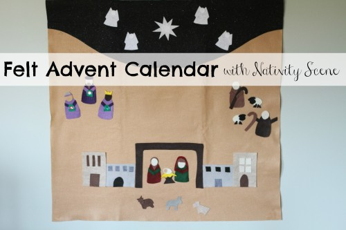 Felt Advent Calendar with Nativity Scene 500x333 Felt Advent Calendar with Nativity Scene:  Product Review & Giveaway (2 winners)