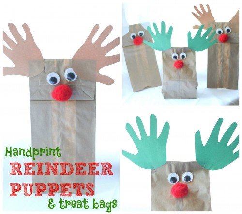 Handprint Reindeer Puppets and Treat Bags 500x441 Handprint Reindeer Puppets and Treat Bags