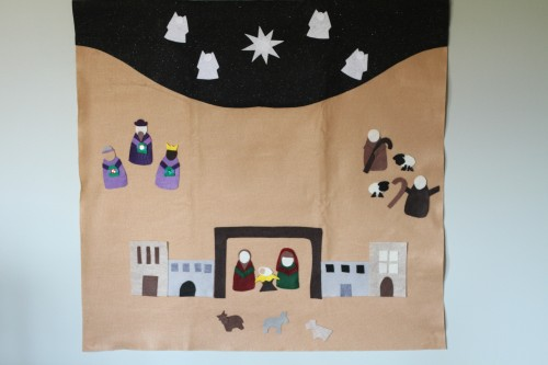 IMG 6289 500x333 Felt Advent Calendar with Nativity Scene:  Product Review & Giveaway (2 winners)