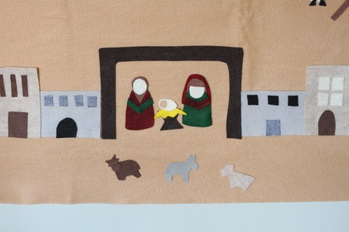 IMG 6290 500x333 Felt Advent Calendar with Nativity Scene:  Product Review & Giveaway (2 winners)