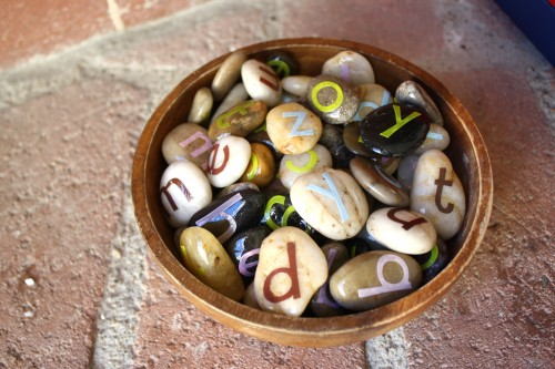 letter stones 500x333 Show and Share Saturday Link Up!