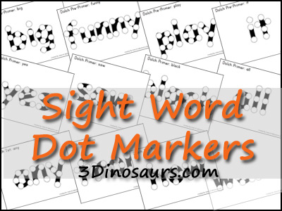 sightword dotset Show and Share Saturday Link Up!
