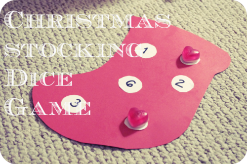 Christmas Stocking Dice Game 500x332 Show and Share Saturday Link Up!