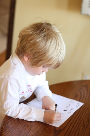 IMG 7100 300x450 Letter to Santa:  A Lesson in Learning to Write