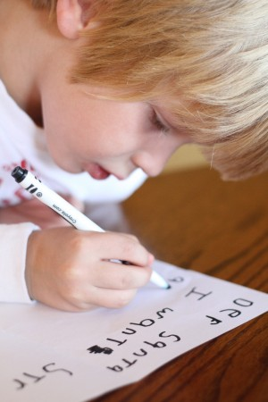 IMG 7103 300x450 Letter to Santa:  A Lesson in Learning to Write