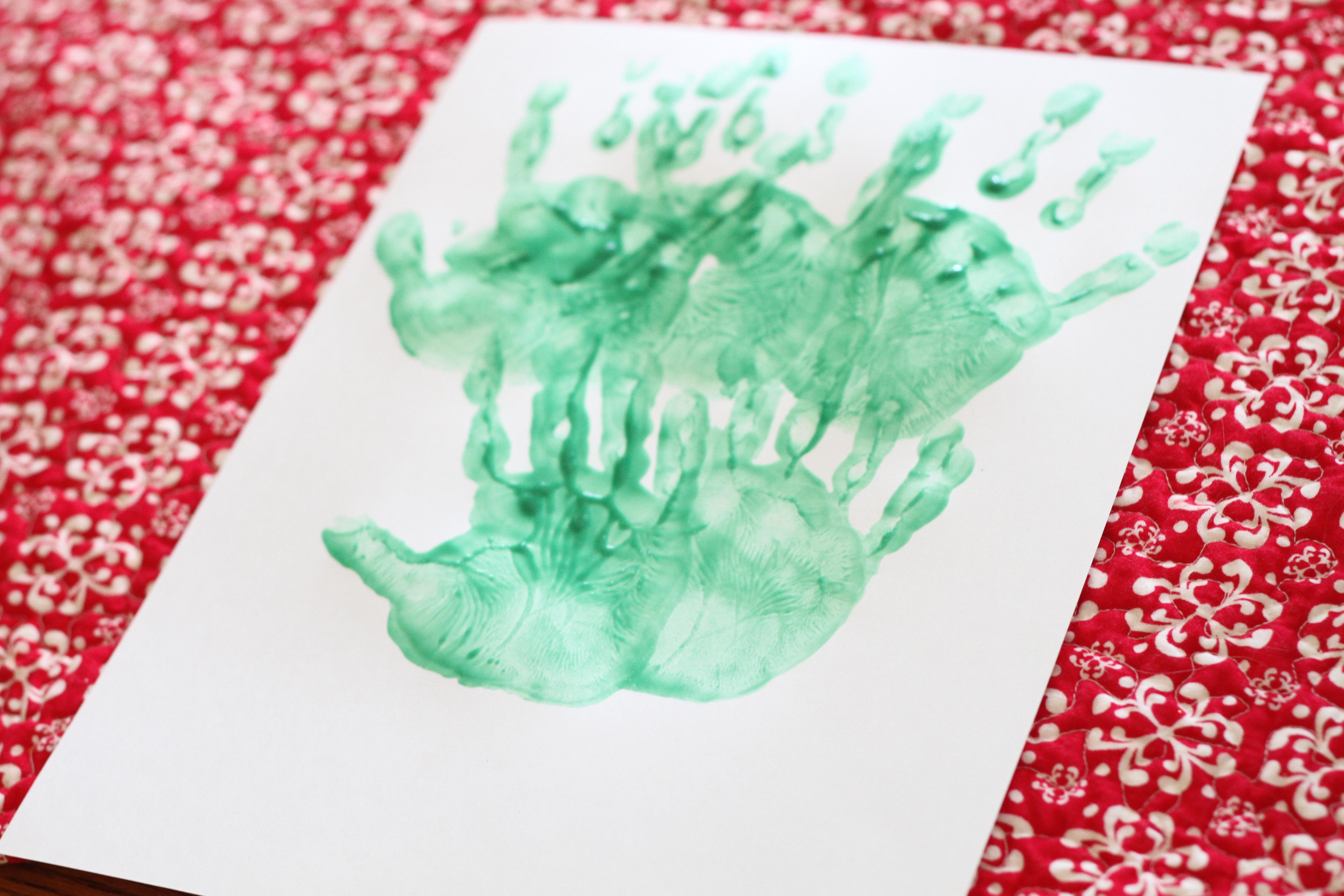 Handprint (and Paw Print) Christmas Tree