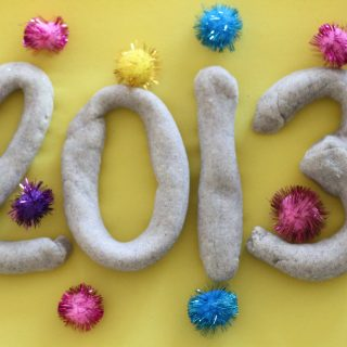 New Year Glitter Playdough