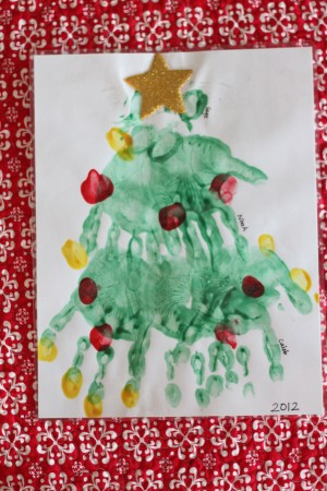 IMG 7415 300x450 Handprint (and Paw Print) Christmas Tree