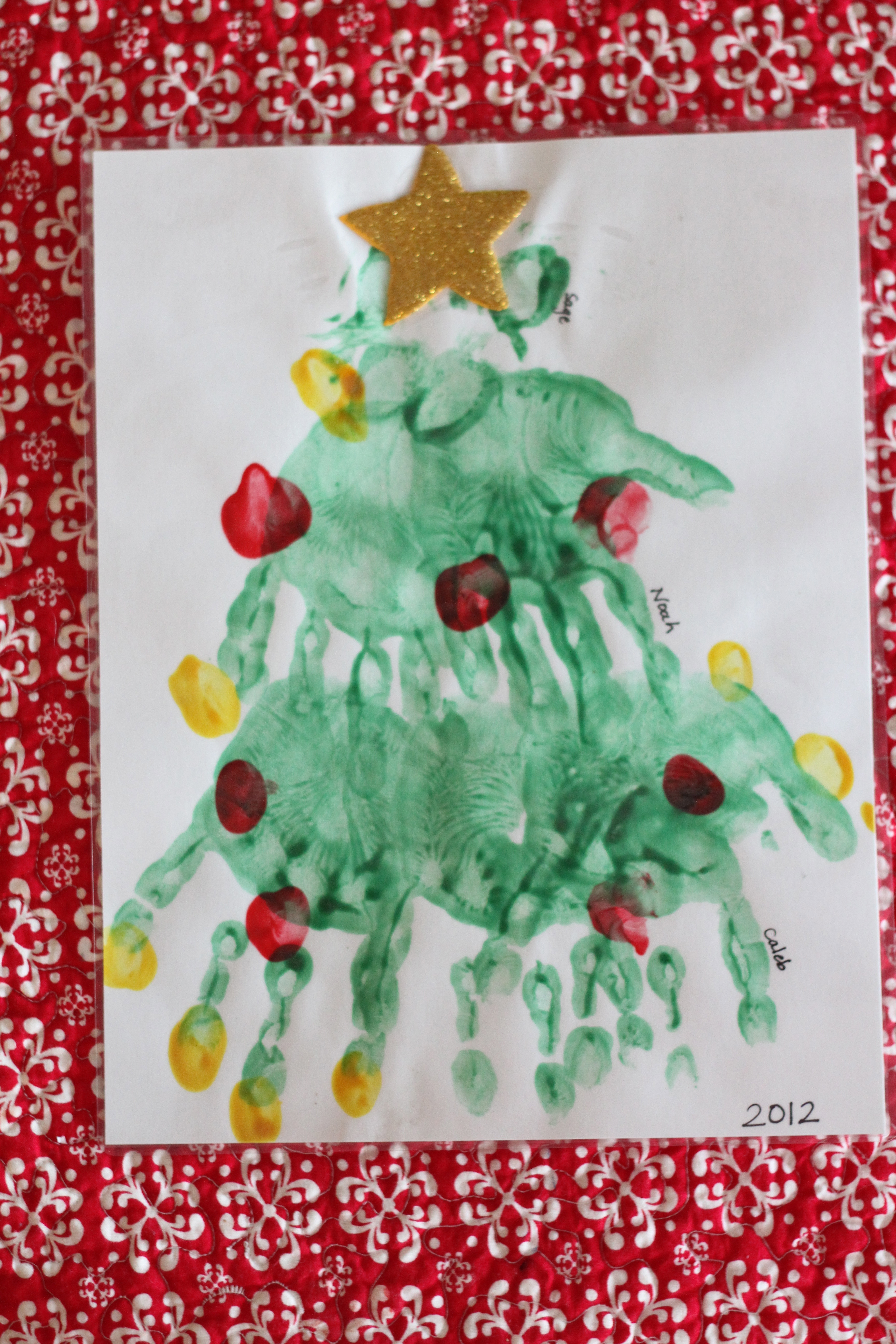 Handprint And Paw Print Christmas Tree I Can Teach My