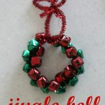 Jingle Bell Ornament 150x150 Beaded Rainbow