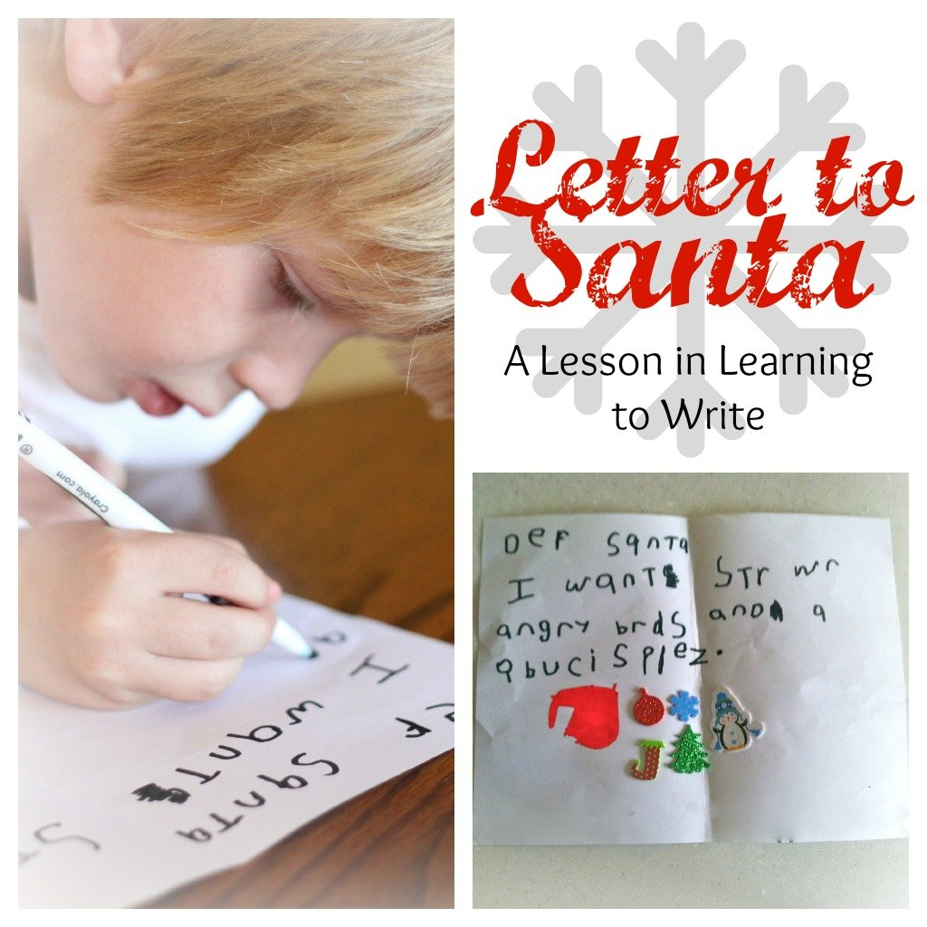Letter to santa a lesson in learning to write i can teach my child besides spiritdancerdesigns
