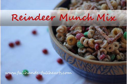Reindeer Munch Mix 500x331 Show and Share Saturday Link Up!