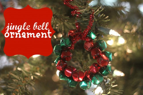 Simple Jingle Bell Ornament 500x333 Jingle Bell Wreath Ornament