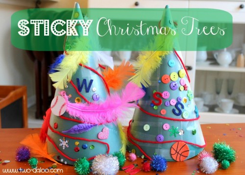 Sticky Christmas Trees 500x357 Show and Share Saturday Link Up!