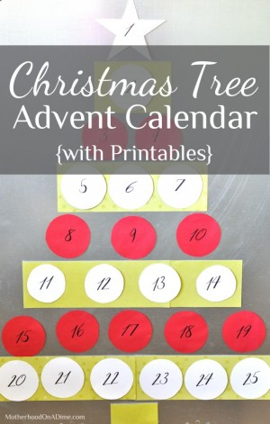 christmas tree printable advent calendar2 620x975 300x471 Show and Share Saturday Link Up!