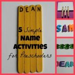 5 Simple Name Activities for Preschoolers 300x300 150x150 Show and Share Saturday Link Up!