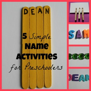 5 Simple Name Activities for Preschoolers 300x300 Show and Share Saturday Link Up!