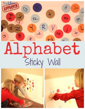 Alphabet Sticky Wall Collage