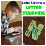 Capital Lowercase Letter Stamping 150x150 Golf Tee Painting on Styrofoam