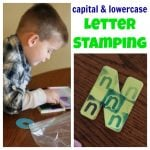 Capital Lowercase Letter Stamping 150x150 Playdough & Alphabet Stamps