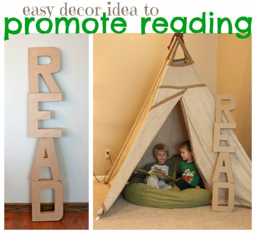 Easy Decor Idea to Promote Reading 500x458 Easy Decor Idea to Promote Reading
