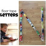 Floor Tape Letters 150x150 Alphabet Parking Lot:  Matching Capital and Lowercase Letters
