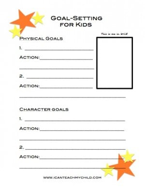 Goal Setting for Kids 300x392 Goal Setting for Kids (free printable)