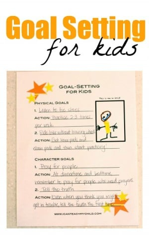 Goal Setting for Kids free printable 300x471 Goal Setting for Kids (free printable)