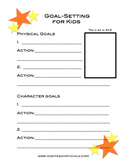 photo about Goals Printable known as Objective Ecosystem for Small children (cost-free printable) - I Can Train My Kid!