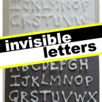 Invisible Letters 150x150 35+ Alphabet Activities for Toddlers & Preschoolers