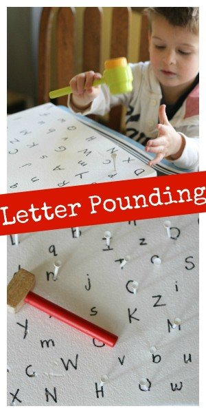 Letter Pounding 300x600 Sight Word and Letter Pounding
