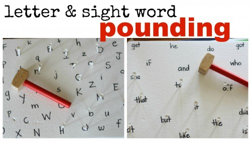 Letter Sight Word Pounding 500x282 Sight Word and Letter Pounding
