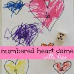 Numbered Heart Game with Dice 150x150 Heart Wreath (from toilet paper rolls)