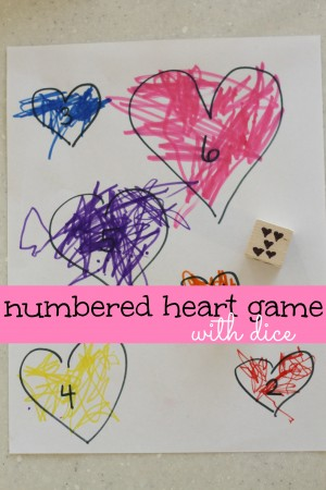 Numbered Heart Game with Dice 300x450 Numbered Heart Game with Dice