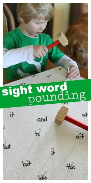Sight Word Pounding 300x600 Sight Word and Letter Pounding